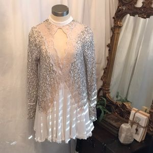 Free People Tell Tale lace tunic dress